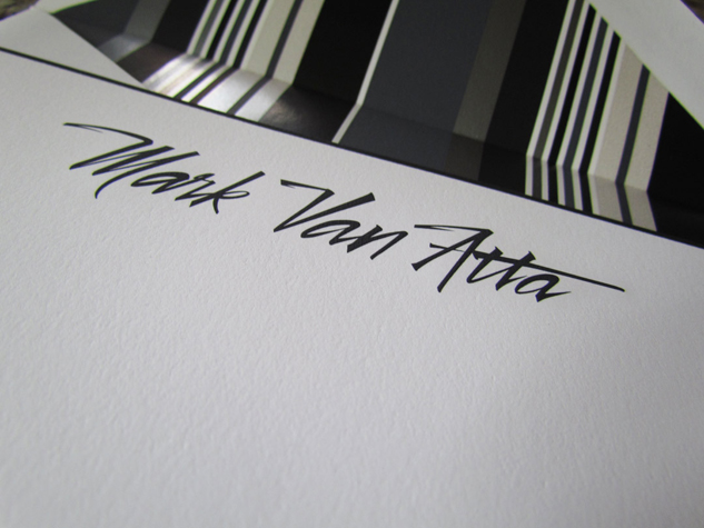 Vectorized Brush lettering 'mark Van Atta'