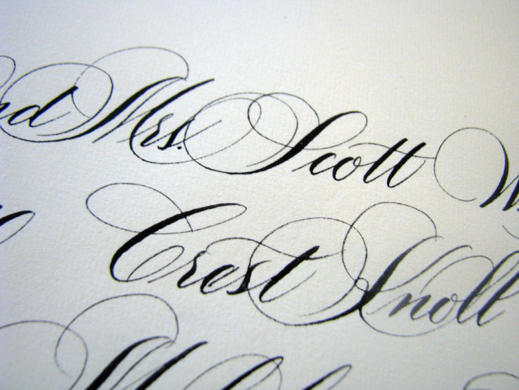 Marlean Tucker's Flourished Script Lettering-addressed Envelope
