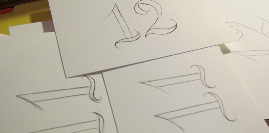 Rough drawing table numbers