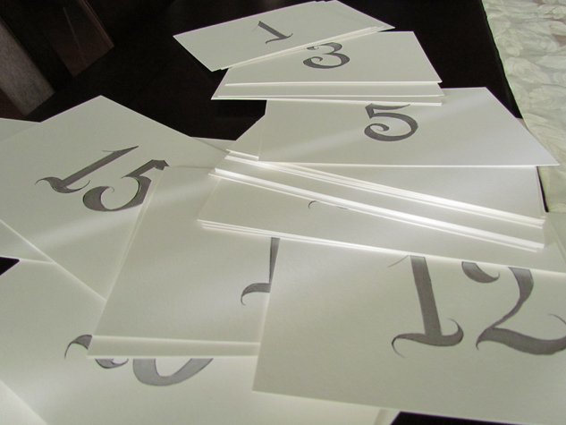 Silver Metallic Table Numbers