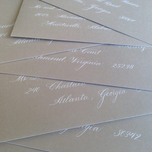 White and Gray Flourished Script