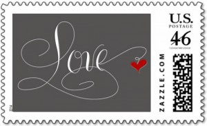 Marlean Tucker's Love- Stamp Charcoal from Zazzle Store