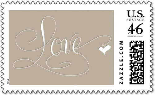 Marlean Tucker's Love-Stamp-Khaki - Zazzle store