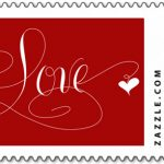 Marlean Tucker's Love Stamp Red -Zazzle Store
