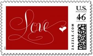 Marlean Tucker's Love Stamp Red -Zazzle Store