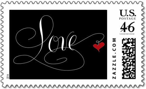 Love StamMarlean Tucker's Love Stamp White on Blackp White on Black
