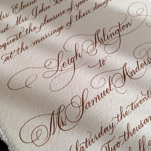 Baker Invite- Flourished Script