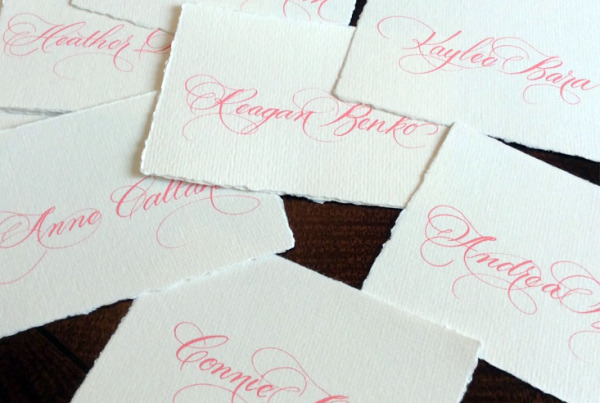 Bridesmaid Place Cards