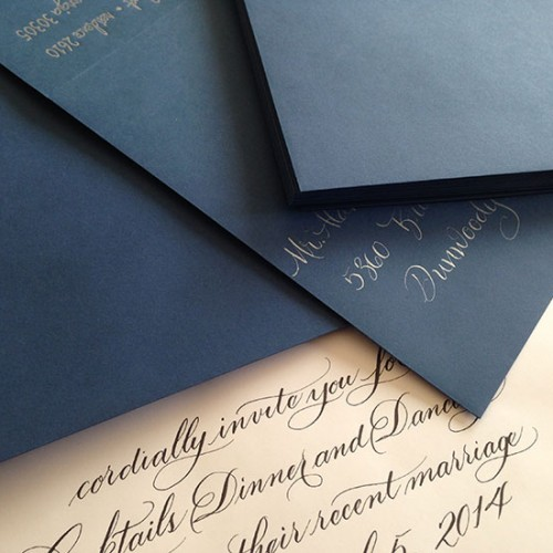 Marlean's Calligraphy-hand addressed Envelopes