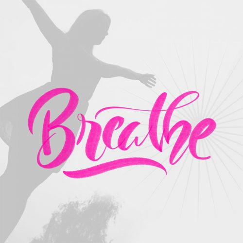 Breathe-Ipad lettering