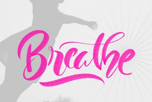 Breathe-Ipad lettering
