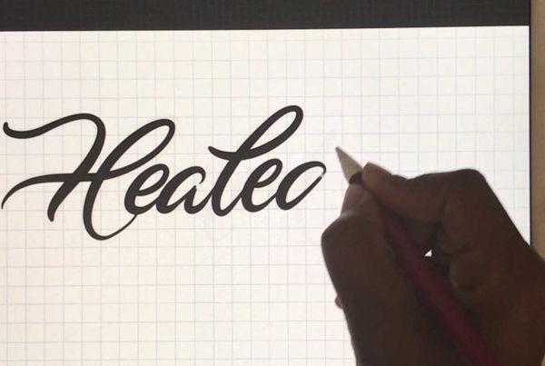 Healed- iPad Pro Lettering