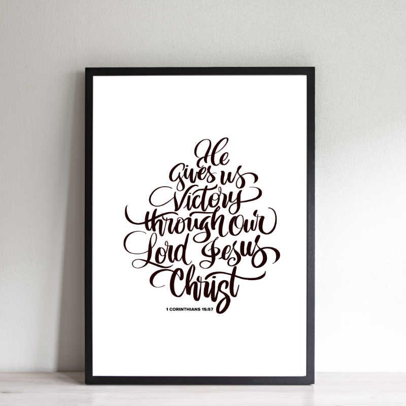 1 Corinthians 15:57 8 x 10 print