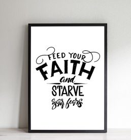 Feed Your Faith 8 x 10 Print