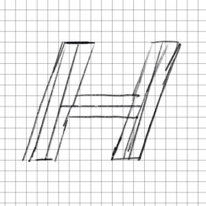 Letter H on a Grid in Sketch Modes