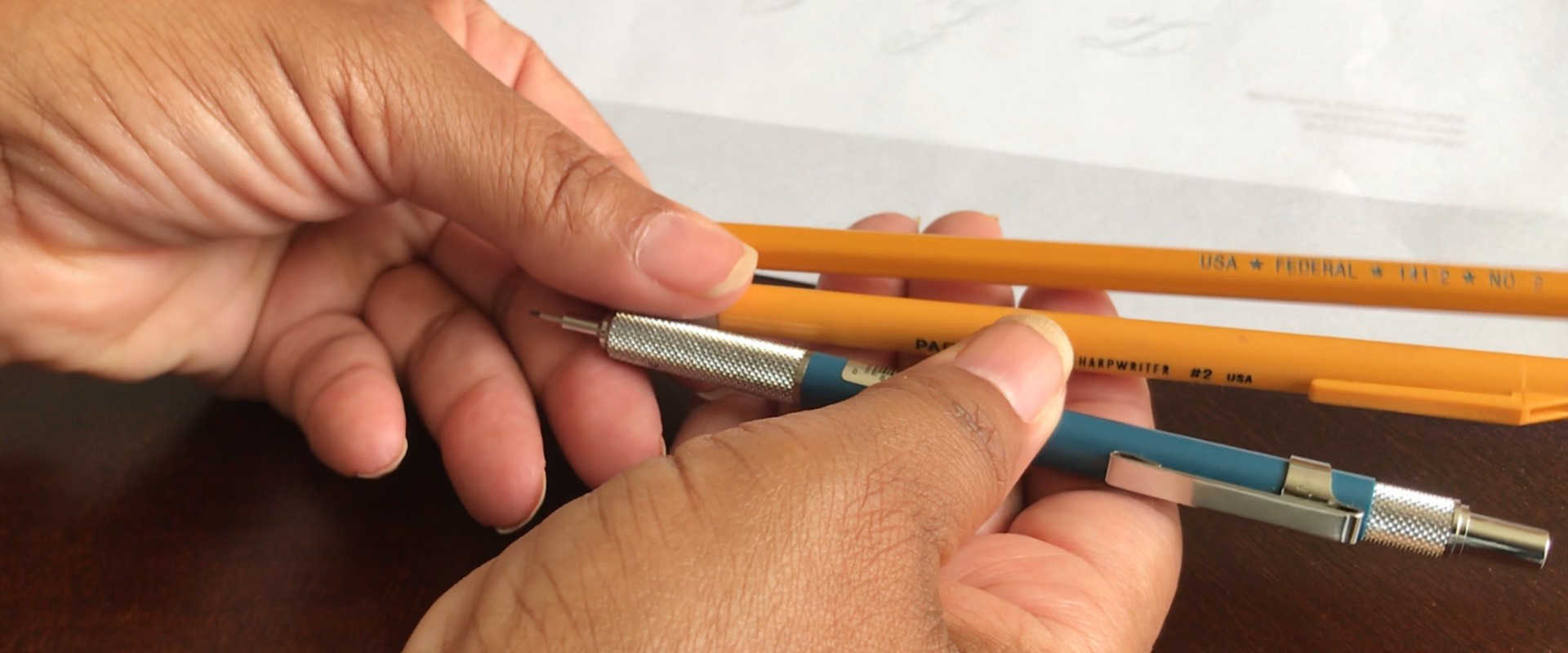 Begin Script Calligraphy With A Pencil
