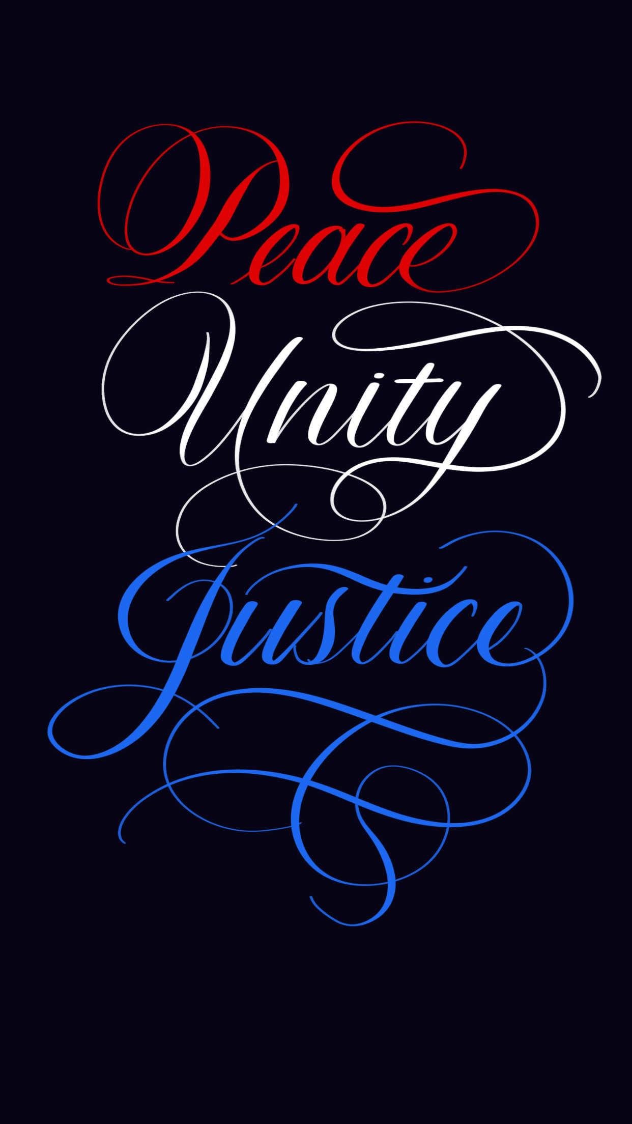 Peace Unity Justice