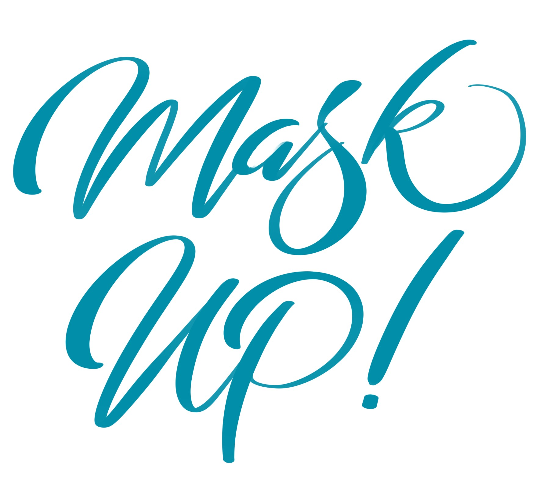 Mask Up text overlay