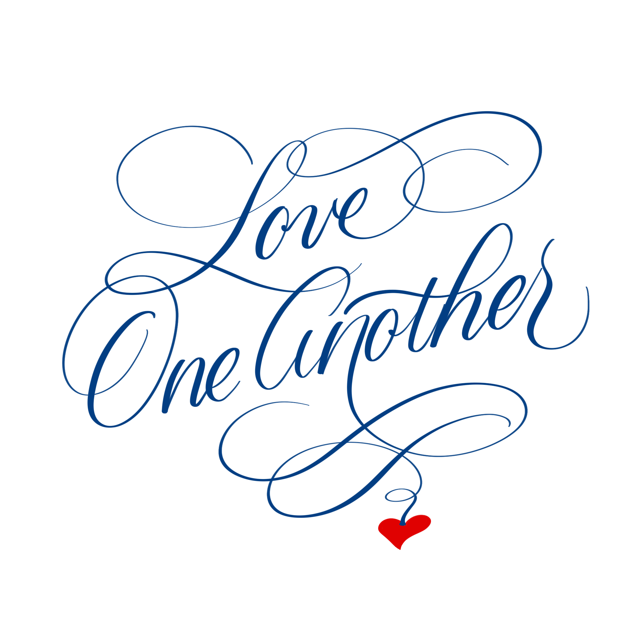 Love one another blue