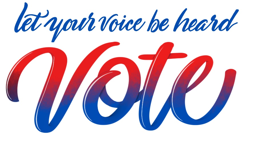 Let you voice be heard - vote lettering