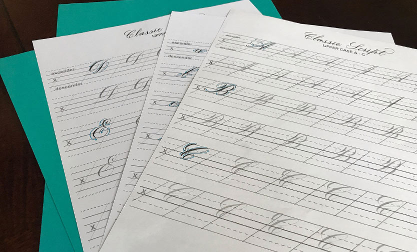 New Calligraphy guidesheets in progress