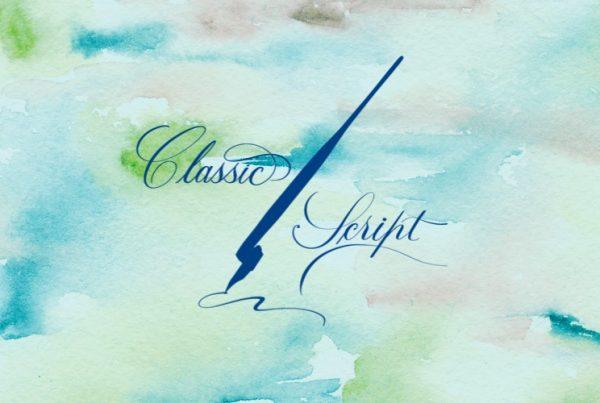 Classic script calligraphy